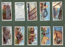 Tobacco cards Cigarette cards Engineering Wonders 1927